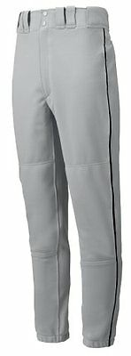 Mizuno Youth Premier Piped Pant (Gray/Black, X-Large)