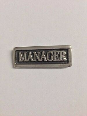 Manager S63 Made from Solid Fine English Pewter Pin Lapel Badge