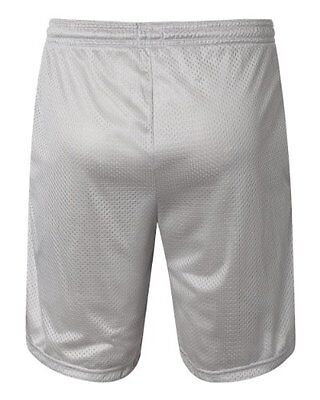 Champion Men's Long Mesh Short With Pockets, Athletic Gray,Small