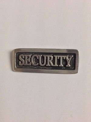 Security S64 Made from Solid Fine English Pewter Pin Lapel Badge