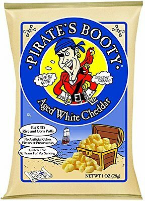 Pirate's Booty  Aged White Cheddar  1-Ounce Bags (Pack of 24)