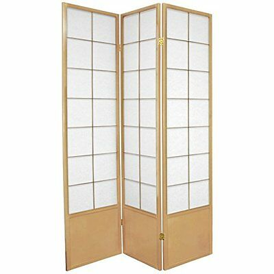 Oriental Furniture Extra Strong Folding Room Divider, 6-Feet Zen Japanese S