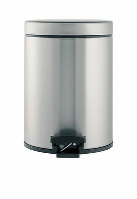 Brabantia 369544 5-Liter Fingerprint Proof Pedal Bin, Brushed Stainless