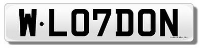 SOLD Cherished number plate  - West London