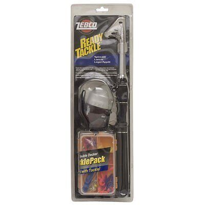 Zebco Ready Tackle Spincast Fishing Combo with Telescopic Rod