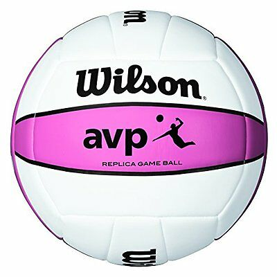 Wilson AVP Replica Game Ball Volleyball(Pink)