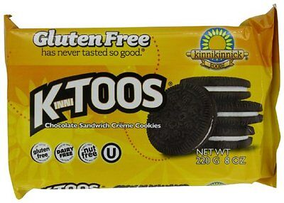 KinniToos Chocolate Sandwich Creme  Gluten Free  8-Ounce Packages (Pack of
