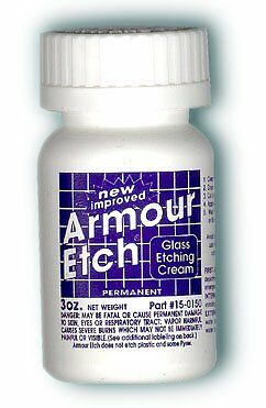 Armour Etching Cream For Glass and Mirrors Is Safe and Easy To Use. (Lot of