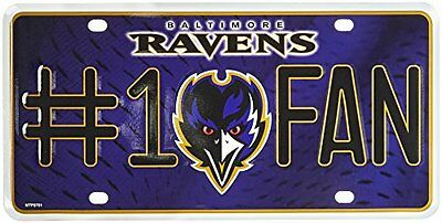 NFL Baltimore Ravens #1 Fan Metal Tag