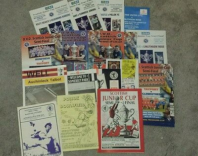Scottish  Junior  Cup Programmes - 1982 to 2010. Semi final programmes x 16