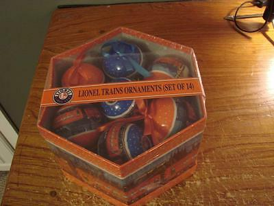 Lionel Trains Ornaments Set of 14 SEALED GIFT BOX Perfect For Train Collector