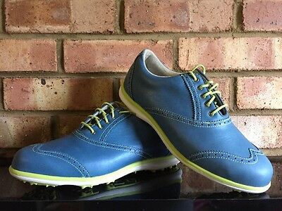 Footjoy Ladies LoPro Golf Shoes Blue & Lime Clearance 97291K UK6W Spikeless