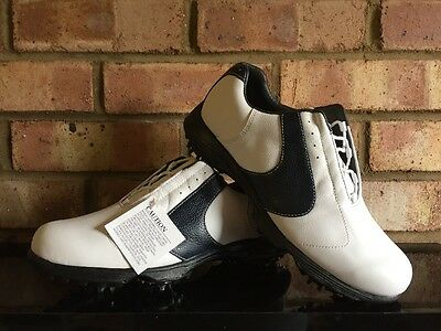 FootJoy Golf Ladies Contour Series Shoes White & Navy 94223K Clearance UK 5W