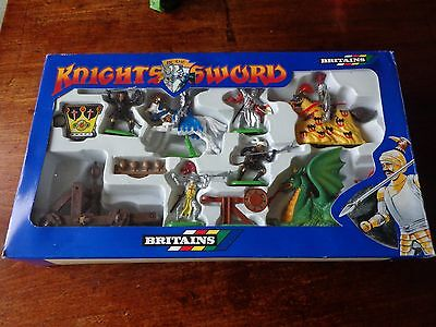 Britains  Knights of the Sword  Action Set 7790  &  Mounted Knights 7743 Turks