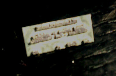 Almex 'A' ticket machine metal name title print plate, Tillingbourne
