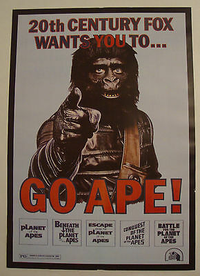 Planet of the Apes A3 Framed Poster  / 1968 - 2016 Film Franchise