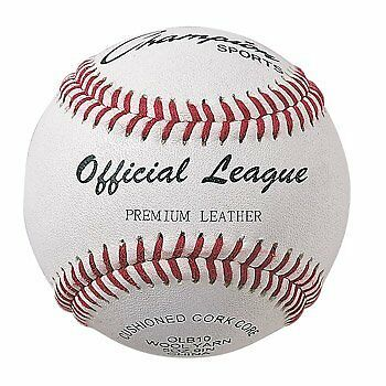 Champion Sports Official League Baseball (Pack of 12), White/Red