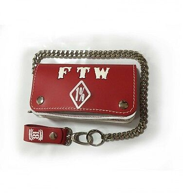 044 Hells Angels Support81 red white FTW Wallet  18cm with Chain