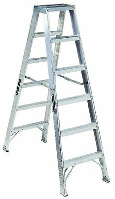 Louisville Ladder AM1006 300-Pound Duty Rating Aluminum Twin Front Step Lad
