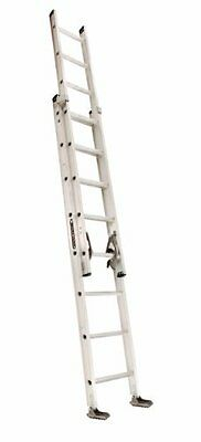 Louisville Ladder AE2216 Aluminum Extension Ladder 300-Pound Capacity, 16-F