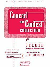 Rubank Concert and Contest Collection for C Flute (Piano Accompaniment)