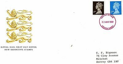 1989 ENGLAND NEW DEFINITIVES 1st& 2nd  CLASS FDC FROM COLLECTION C9