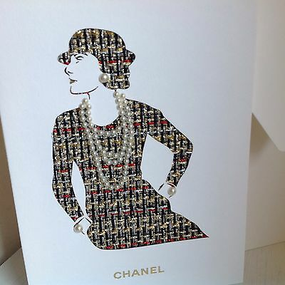Chanel Coco Chanel Christmas Pearl Card Vip Brand New