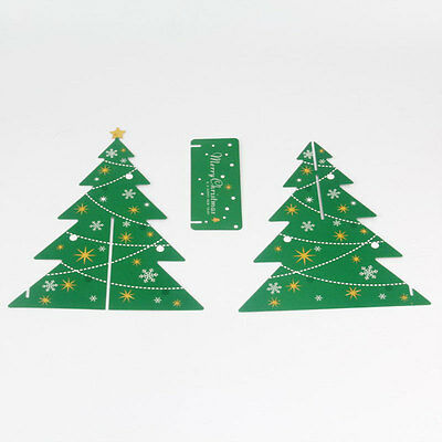 Paper Christmas Tree Home Party Festival Christmas Desk Table Decoration