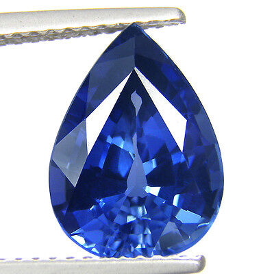 4.25 ct. Awesome Pear Facet AAA Blue Sapphire