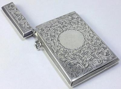 Victorian/Edwardian hallmarked Sterling Silver Card Case (no inscriptions) –1901