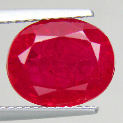 6.23 ct. Wonderful Oval Facet AAA Red Ruby