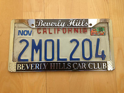 California Usa Number Plate/licence Plate And Beverly Hills Surround