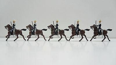 Solid Cast Painted Soldiers - 5 X Mounted Soldiers - Please See Below