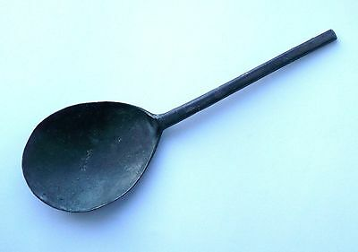 SLIP TOP Pewter spoon - late 16th or early 17th century