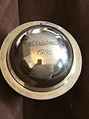 Beautiful Neiman Marcus Sterling Silver Christmas 1986 Saturn Ball Ornament