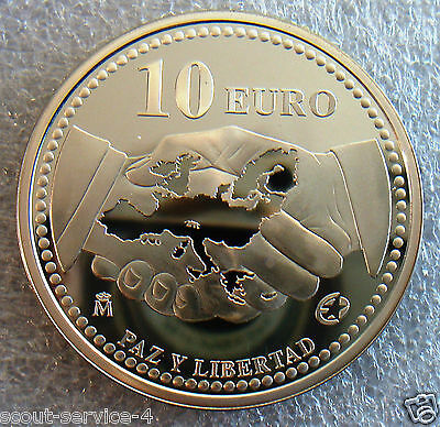 Silver Coin, Spain, 10 Euro 2005, Peace And Freedom, Proof, 925/1000