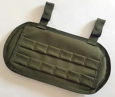 New Airsoft Molle Lower Back Protector Pad With Hook&Loop Opening OD Green