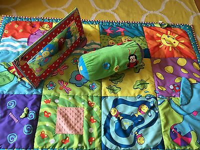 Tiny Love Super Large Play Mat And Tummy Time Bundle