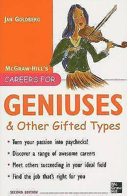 Careers for Geniuses and Other Gifted Types by Jan Goldberg-9780071482165-F009