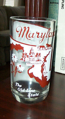 Maryland Drinking Glass The Old Line State