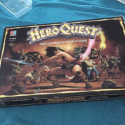 HeroQuest Board Game MB Games Complete Unpainted Figures