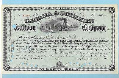 Canada Southern Railway Company, share certificate dated 1921 over 189-.