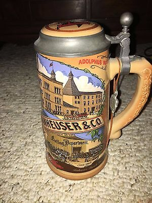 BUDWEISER beer stein 1990 CLASSIC COLLECTION W. Germany lidded