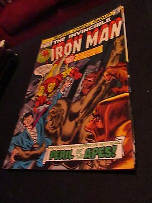 The Invincible Iron Man (Peril of the Apes) #82 comic book 1975