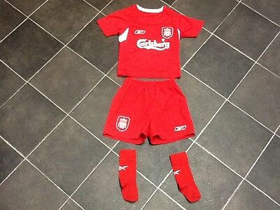 Childs Full Liverpool Kit ,size 1-2yrs