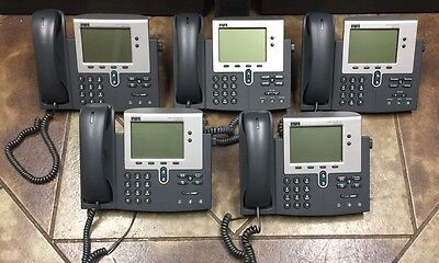 LOT OF 5 Cisco IP Phone 7940 Series Business Phones