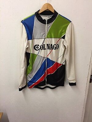 Size Medium Vintage Long Sleeve Cycling Jersey By Colnago