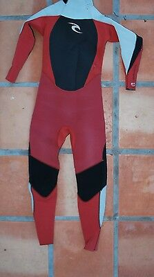 RIP CURL WETSUIT FULL SUIT DAWN PATROL KIDS YOUTH BOYS GIRLS 4:3mm SURF size 12