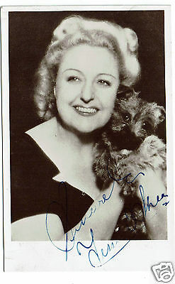 Tessie O'shea Welsh Actress and Entertainer Hand Signed Vintage Postcard 5 X 3
