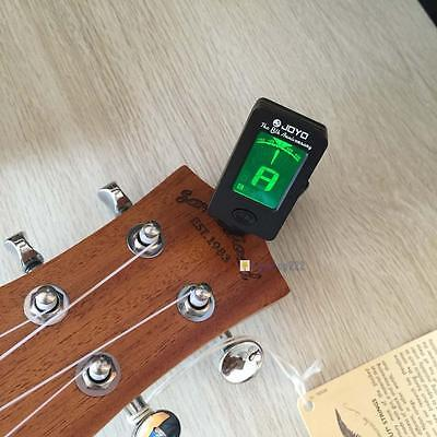 1P Clip-on LCD Digital Chromatic Electronic Guitar Tuner Bass Violin Ukulele AF